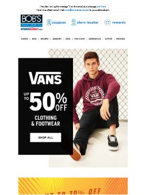 Bob's Stores - 🏁 Up to 50% OFF Vans