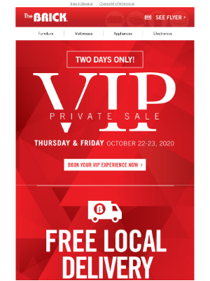 The Brick (CA) - VIP Signup | Preview our Incredible Two Day Deals.