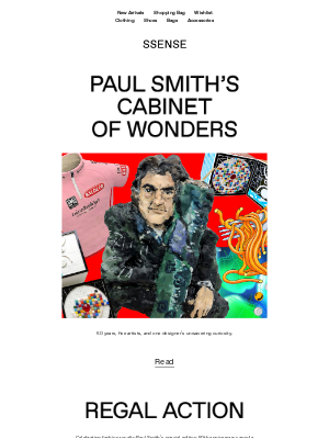 SSENSE - Paul Smith's Cabinet of Wonders: This Week's Stories