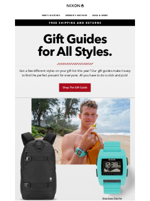 Nixon - We've Got The Gifts For All Adventurers