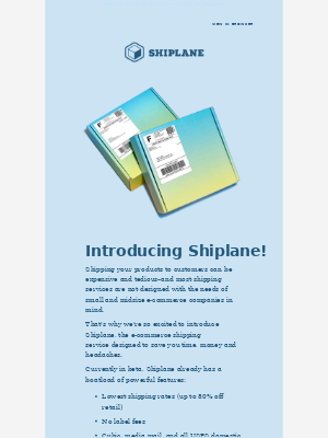 Packlane - Introducing Shiplane: Shipping Solved for Your Business
