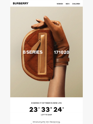 Burberry USA - B Series 17 October Is Now Live