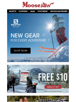 Moosejaw - Hit the slopes with new gear from Salomon ⛷️