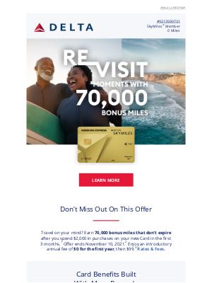 Delta Air Lines - Still Interested In 70,000 Bonus Miles?