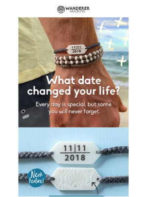 It's here! Introducing the CUSTOM DATE Bracelet!
