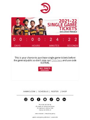 Atlanta Hawks - Your Exclusive Presale Access Ends Soon!
