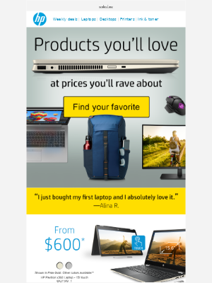 HP - The products you 💖 for less