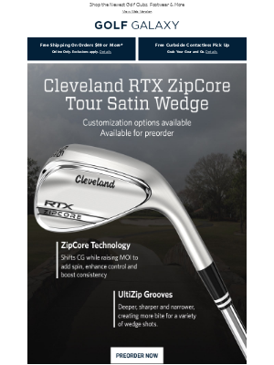 Preorder New Cleveland RTX ZipCore Tour Satin Wedge!