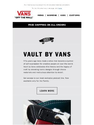 Vans - GET TO KNOW VAULT