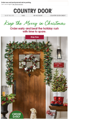 Country Door - Conquer Christmas Shopping with Time To Spare