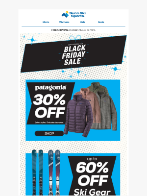 Sun & Ski - Black Friday Deals you don't want to miss.