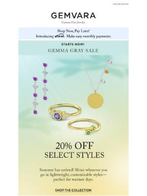 Gemvara - Starts Now! 20% Off Gemma ipsum