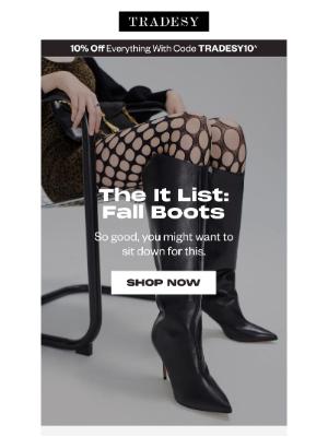 Tradesy - The It List: Fall Boots