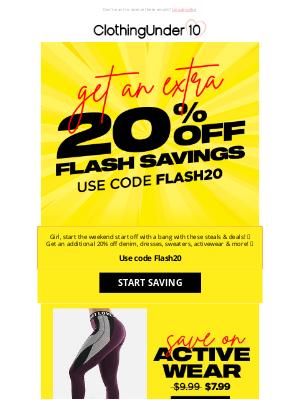 ClothinguUnder10 - OMG ⚡20% OFF Flash Sale⚡