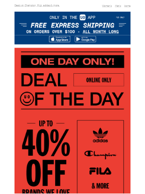 Up to 40% OFF brands we love