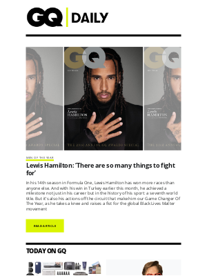 British GQ - Lewis Hamilton: 'There are so many things to fight for'