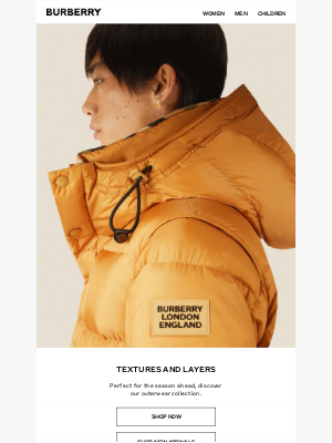 Burberry USA - Burberry Outerwear: Textures and Layers