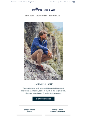 Peter Millar - Mountainside Style: Fleece, Flannel And More