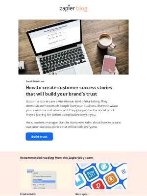 Zapier - Build trust with customer success stories