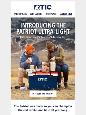 RTIC Outdoors - Introducing the NEW Patriot Ultra-Light