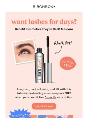 Birchbox USA - This FREE Benefit mascara is calling your name