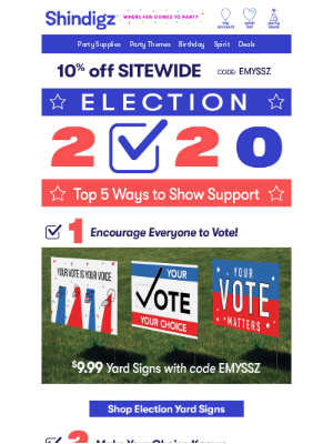Shindigz - 2020 Election: 5 Ways to Show Support