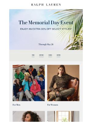 The Memorial Day Event Starts Now