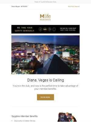 MGM Resorts - Take advantage of your Sapphire benefits.