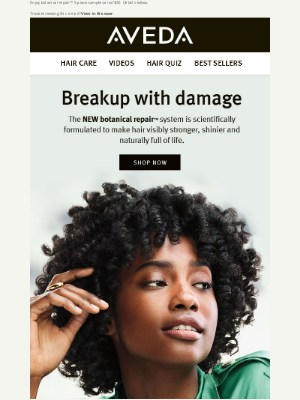 Aveda - Breakup with damaged hair