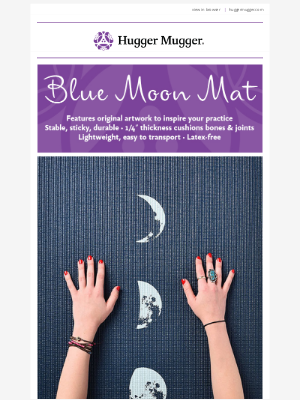 Hugger Mugger - Howl at this fun, favorite yoga mat! 🌙