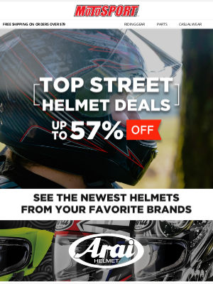 MotoSport - Top Street Helmet Deals