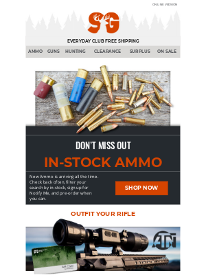 Sportsman's Guide - New Ammo is Arriving Daily