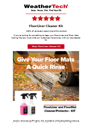 WeatherTech - Give Your Floor Mats A Quick Rinse!