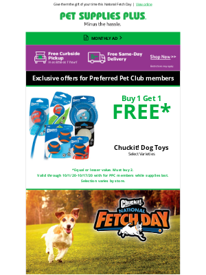Pet Supplies Plus - Dogs love playtime