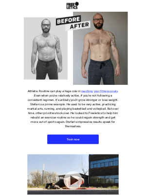 """Freeletics - """"If you really want to make a change, start now"""" - Stefan's transformation"""
