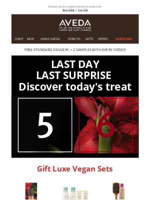 Aveda (UK) - LAST SURPRISE IS HERE! Unlock day 6 treat now