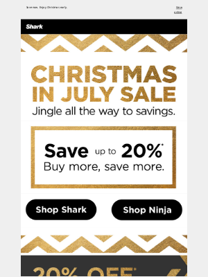Shark Cleaning - It's Christmas in July. Time to save big.