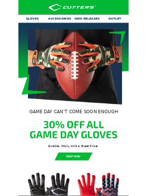 💥30% OFF 💥  All Game Day Football Gloves