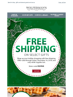 Time to celebrate, Free Shipping Day is here.
