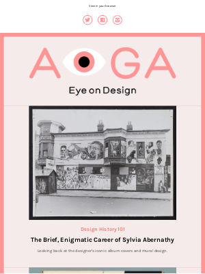 AIGA - Sylvia Abernathy's brief and enigmatic career, how a Herbert Bayer-designed atlas anticipated a data-driven world, beverage branding for fall + more