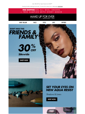 MAKE UP FOR EVER - Shop New Aqua Resist During Friends & Family