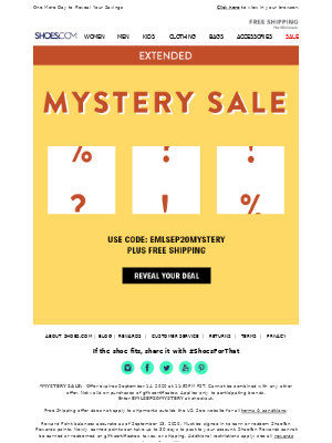 SHOES - Your Mystery Offer – Extended!