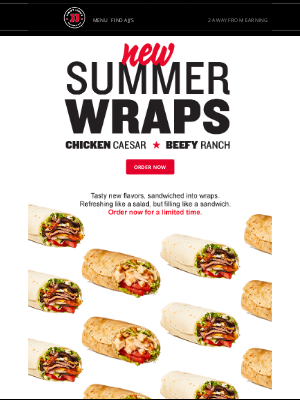 Jimmy John's - 📣 LIMITED TIME: New Summer Wraps