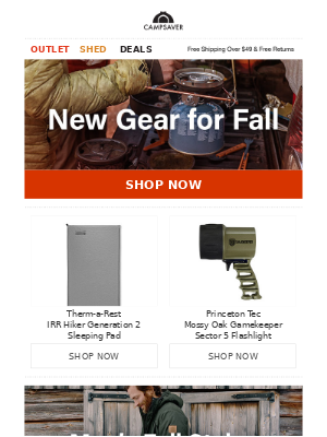 CampSaver - Gear Up for Fall 🍂