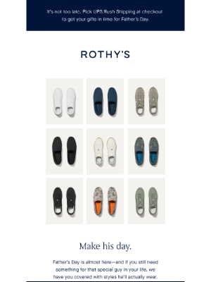 Rothy's - There's still time.