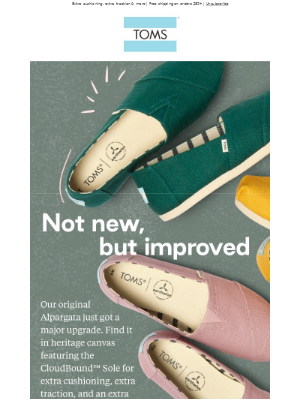 TOMS - New colors, new CloudBound™ Sole