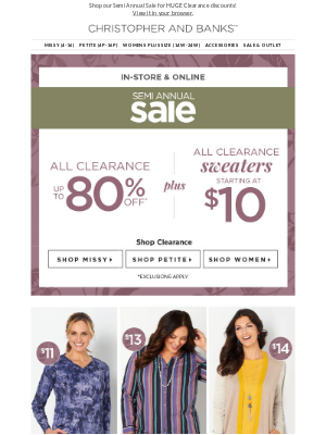 Hurry! Semi Annual Sale Ends Soon!