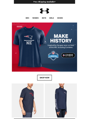 🏈 Rep New England With Patriots NFL Combine Authentic Gear