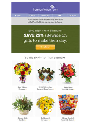 From You Flowers - 25% Off Birthday Bouquets & Chocolates & Gifts