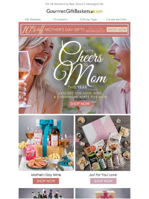 GourmetGiftBaskets - Cheers To Mom 🥂